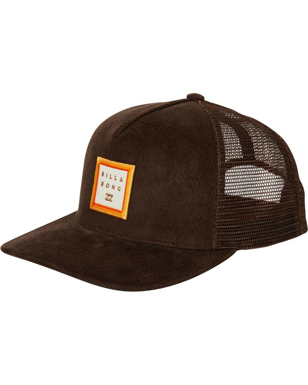 0 Stacked Trucker Hat Brown MAHWTBST Billabong