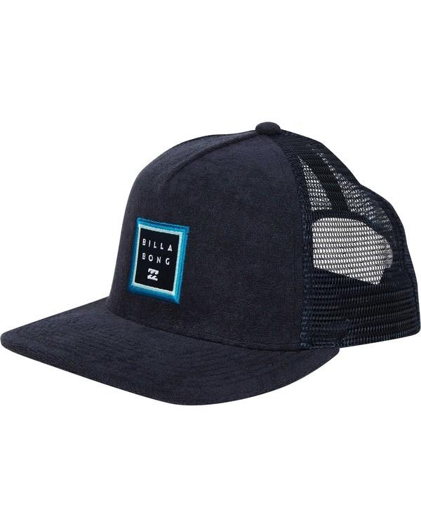 0 Stacked Trucker Hat Blue MAHWTBST Billabong