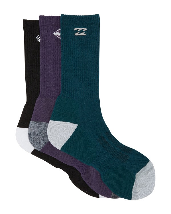 0 Mixed Bag Crew Socks White MASO1BMB Billabong