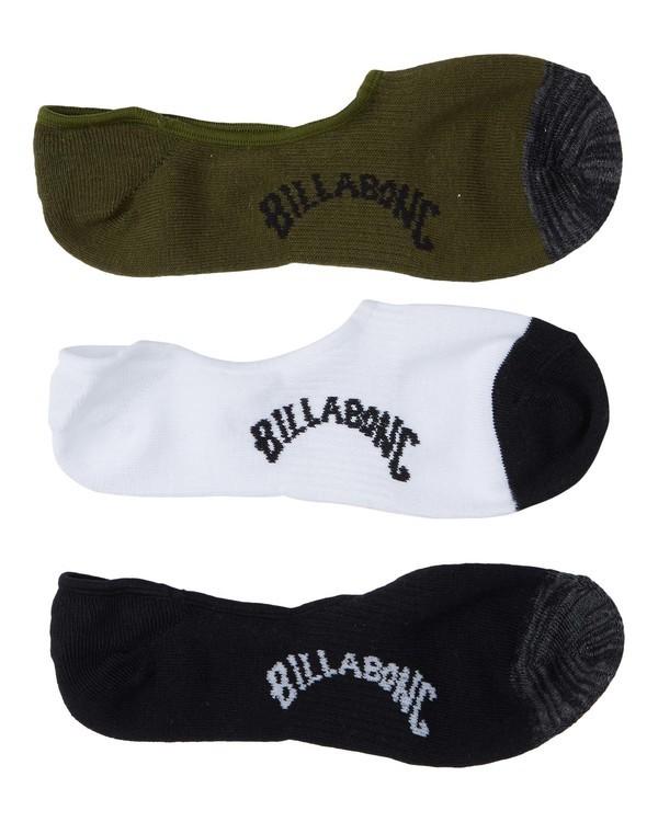 0 Mixed Bag Invisible Socks White MASO3BMI Billabong