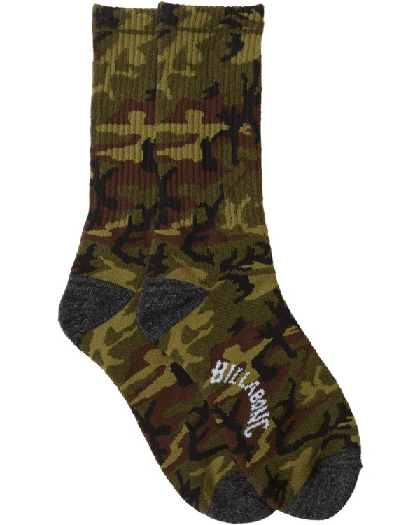 0 Sundays Crew Socks Black MASO3BSU Billabong