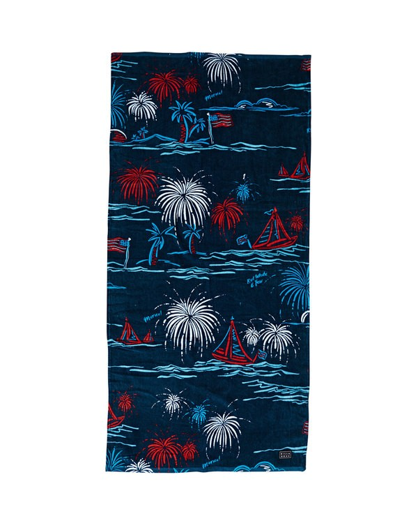 0 Waves Towel Blue MATWUBWA Billabong