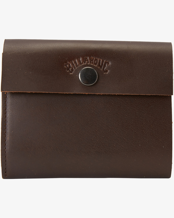 0 Tribong Leather Wallet Brown MAWT3BTR Billabong