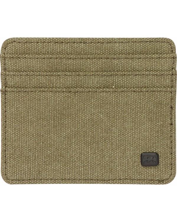 0 Dimension Card Holder Wallet Green MAWTNBDC Billabong