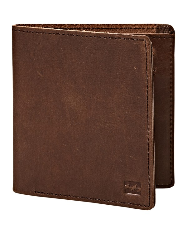 0 Gaviotas Leather Wallet Brown MAWTVBGL Billabong