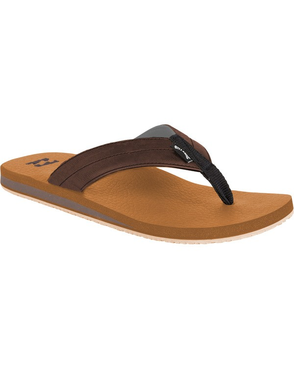 0 All Day Impact Cush Sandals Brown MFOT1BAC Billabong