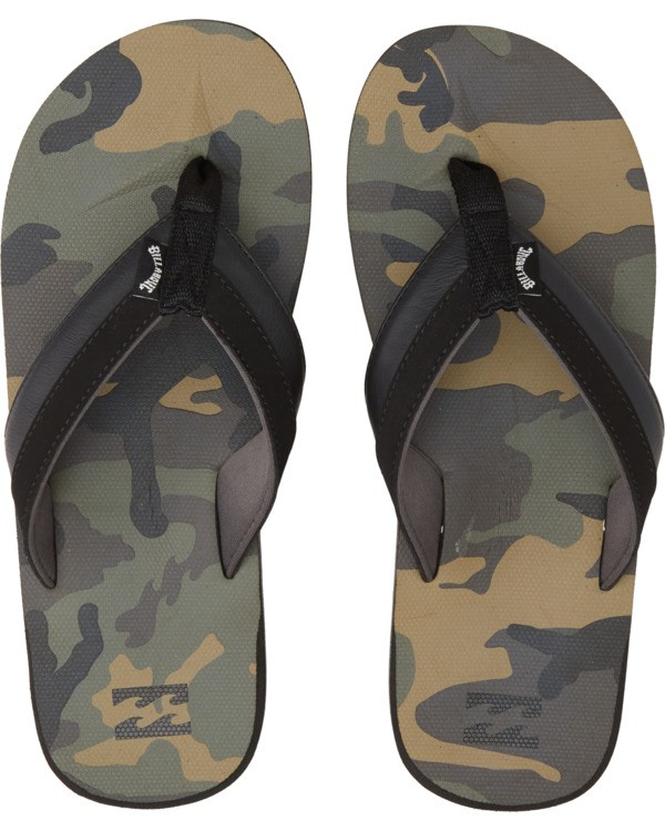 0 All Day Impact Print Sandals Black MFOT1BAI Billabong