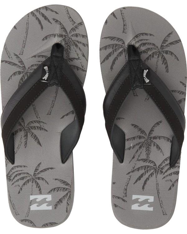0 All Day Impact Print Sandals Grey MFOT1BAI Billabong