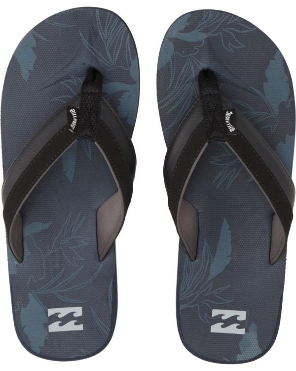 0 All Day Impact Print Sandals Blue MFOT1BAI Billabong