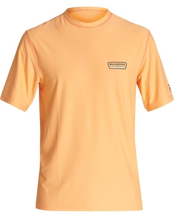 0 Badge Loose Fit Short Sleeve Surf Shirt Grey MR011BBD Billabong