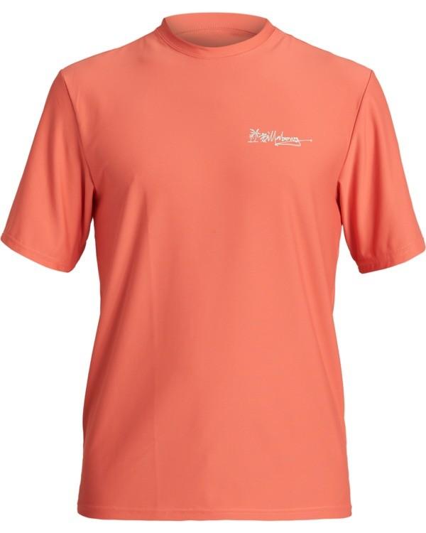 0 Crayon Wave Loose Fit Short Sleeve Rashguard Orange MR013BCW Billabong