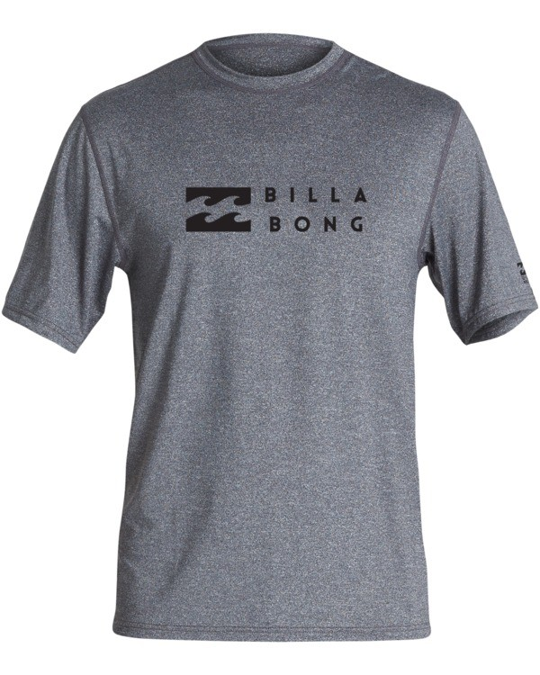 0 United Loose Fit Short Sleeve Rashguard Grey MR013BUT Billabong