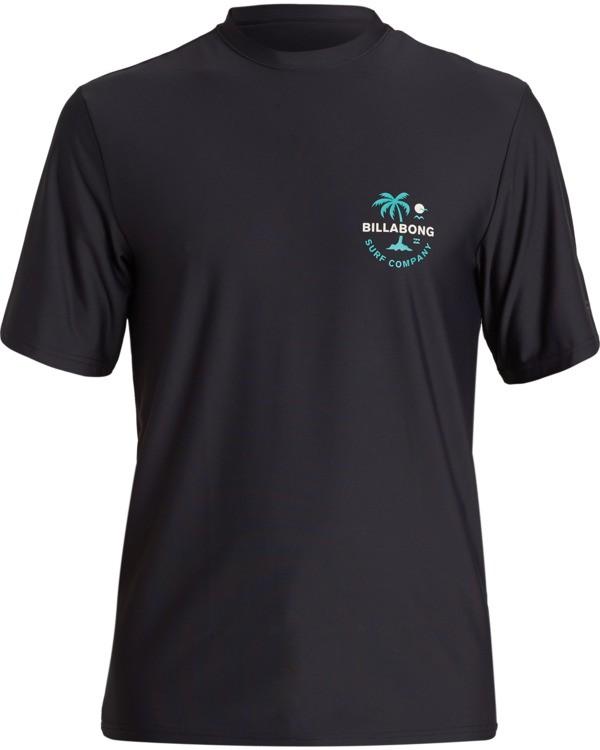 0 Vacation Loose Fit Short Sleeve Rashguard Black MR013BVA Billabong