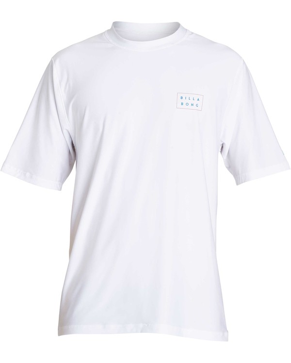 0 Die Cut Loose Fit Short Sleeve Rashguard White MR01NBDC Billabong