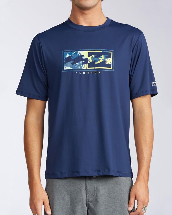 0 Florida Inverse Loose Fit Short Sleeve Rashguard Blue MR01QBFR Billabong