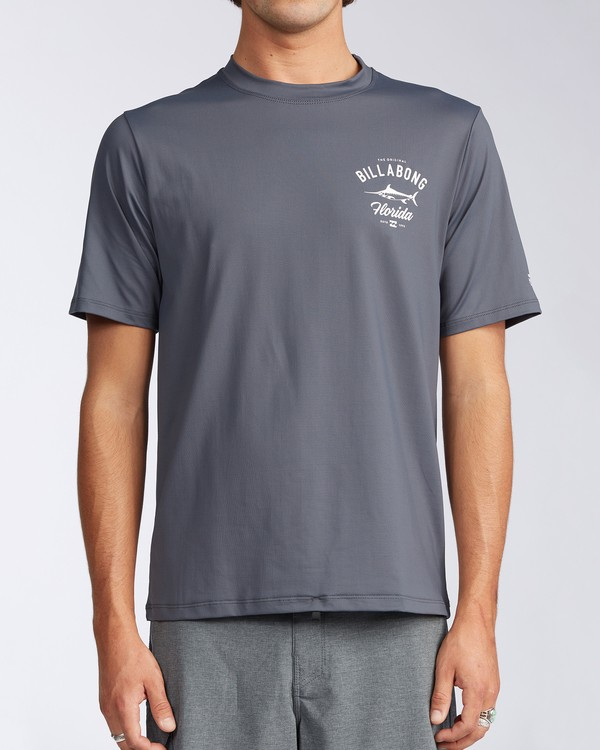 0 Florida Marlin Loose Fit Short Sleeve Rashguard Grey MR01TBMD Billabong