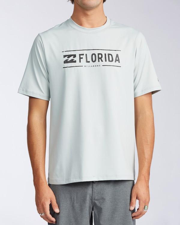 0 Florida Stamp Loose Fit Short Sleeve Rashguard Beige MR01TBSD Billabong