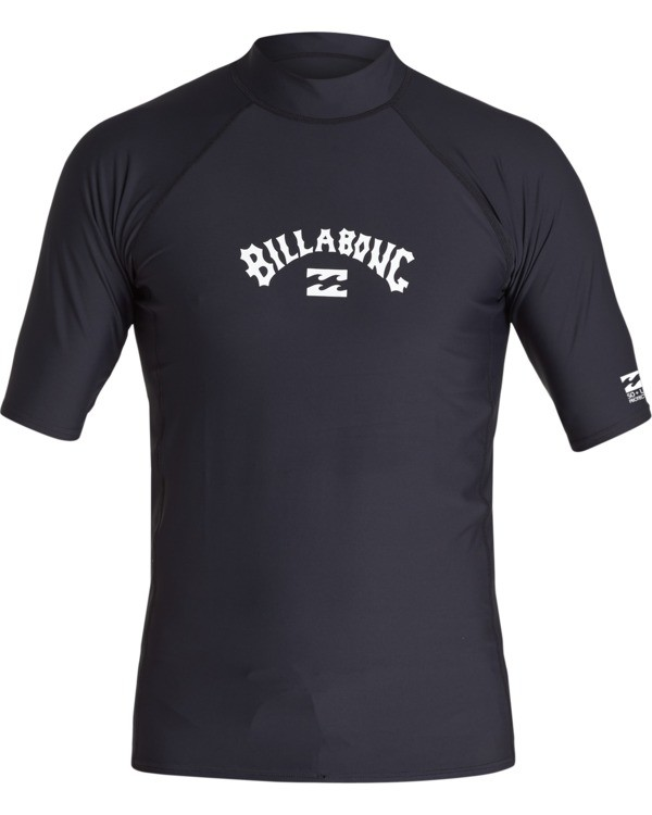 0 Arch Performance Fit Short Sleeve Rashguard Black MR021BAR Billabong