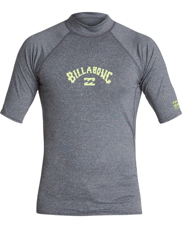 0 Arch Performance Fit Short Sleeve Rashguard Grey MR021BAR Billabong