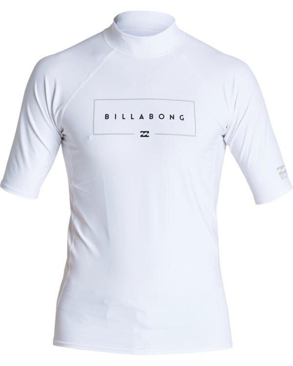 0 Union Performance Fit Short Sleeve Rashguard White MR021BUN Billabong