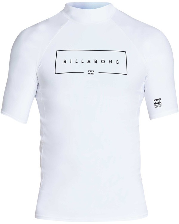 0 Union Performance Fit Short Sleeve Rashguard White MR02TBUN Billabong
