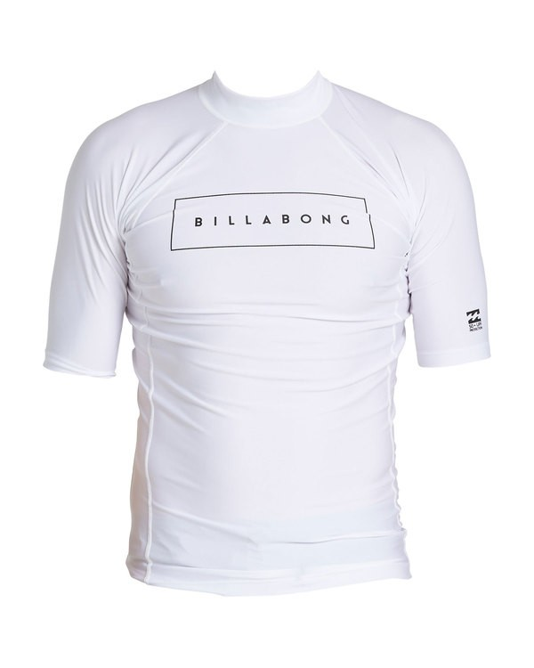 0 United Performance Fit Short Sleeve Rashguard White MR12SBUE Billabong