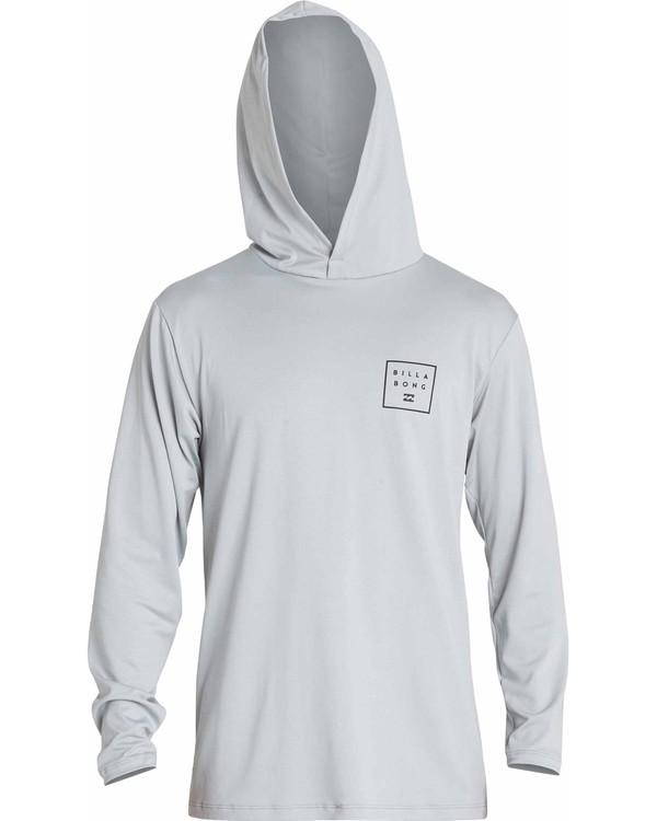 0 All Day Mesh Hooded Loose Fit Long Sleeve Rashguard Grey MR52NBAH Billabong