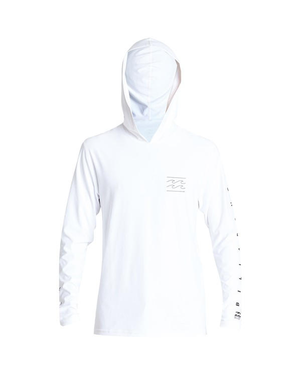 0 Unity Hooded Loose Fit Long Sleeve Rashguard White MR52VBUH Billabong