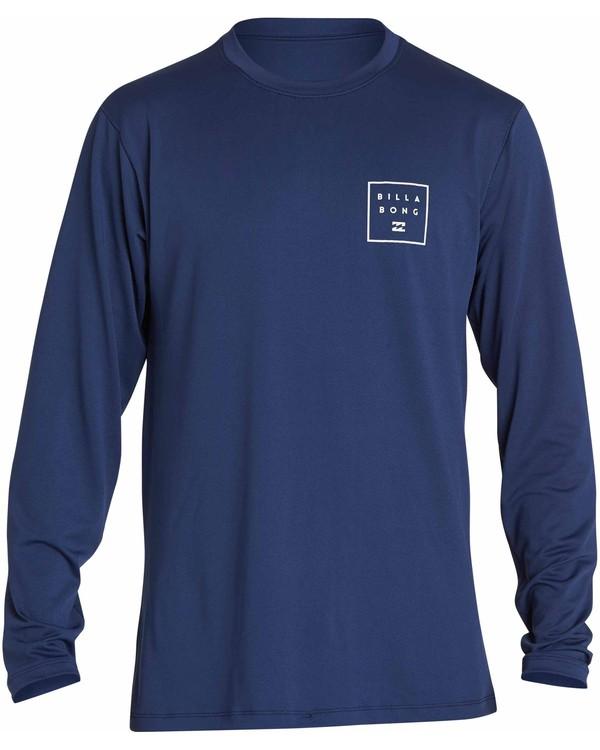 0 All Day Mesh Loose Fit Long Sleeve Rashguard Blue MR53NBAM Billabong