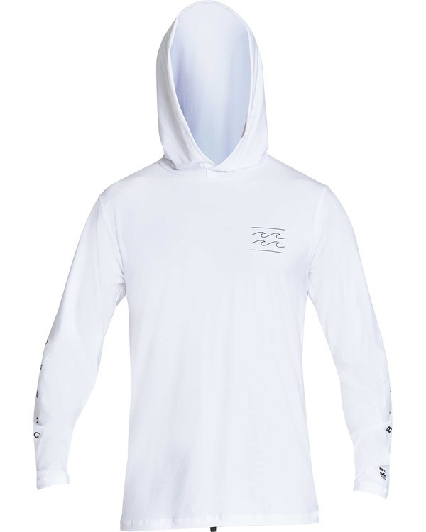 0 Unity Hooded Loose Fit Long Sleeve Rashguard White MR55TBUH Billabong