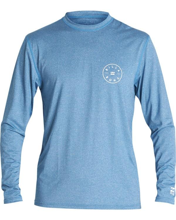 0 Rotor Loose Fit Long Sleeve Surf Shirt Blue MR591BRO Billabong