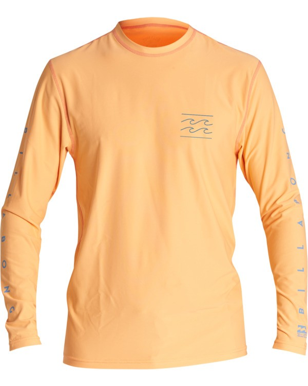 0 Unity Loose Fit Long Sleeve Surf Shirt Orange MR591BUT Billabong