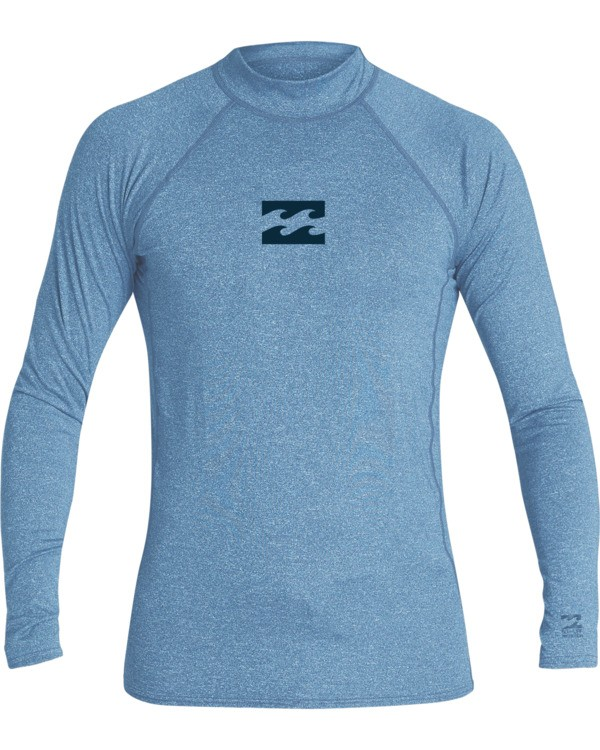 0 All Day Wave Performance Fit Long Sleeve Rashguard Blue MR601BAL Billabong