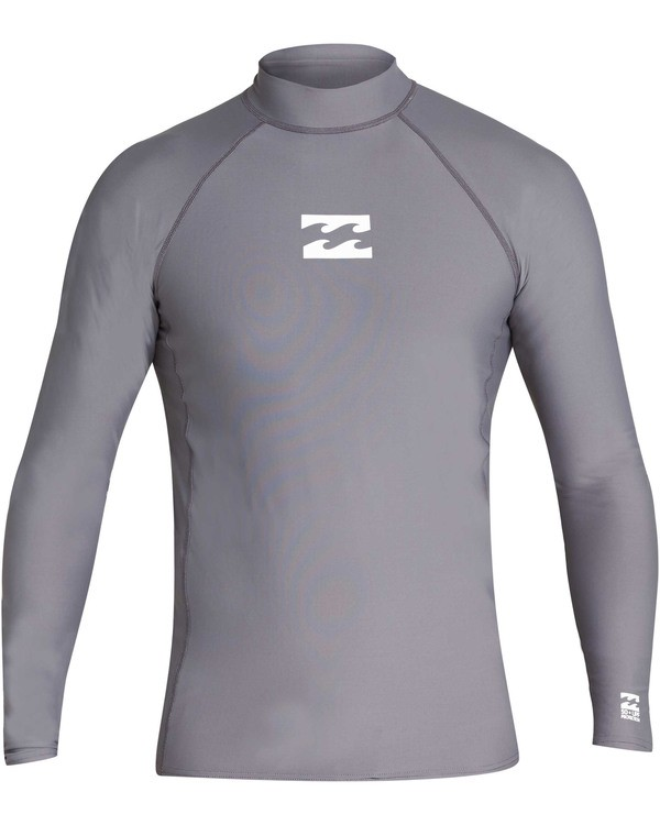 0 All Day Wave Performance Fit Long Sleeve Rashguard Grey MR60TBAL Billabong