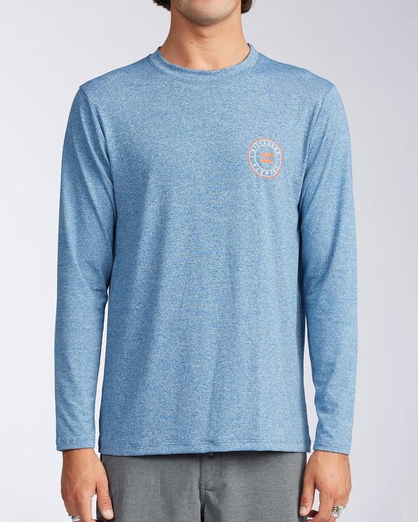 0 Florida Seal Loose Fit Long Sleeve Rashguard Blue MR60TBDR Billabong