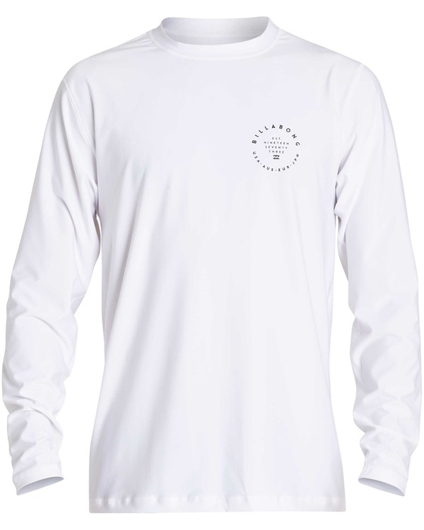 0 Rotor 2 Loose Fit Long Sleeve Rashguard White MR61NBRO Billabong