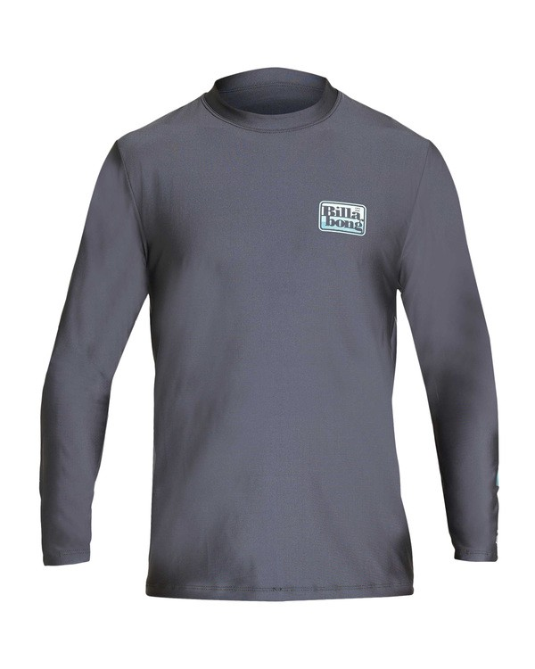 0 Keyline Loose Fit Long Sleeve Rashguard Grey MR61TBKE Billabong