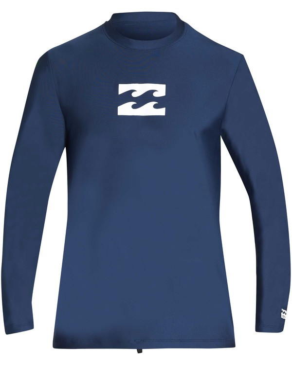 0 All Day Wave Loose Fit Long Sleeve Rashguard Blue MR61TBWL Billabong
