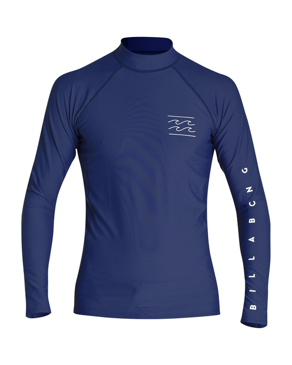 0 Unity Performance Fit Long Sleeve Rashguard Blue MR61VBUY Billabong