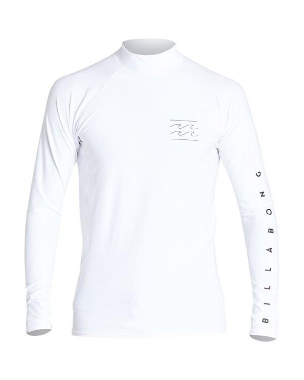 0 Unity Performance Fit Long Sleeve Rashguard White MR61VBUY Billabong
