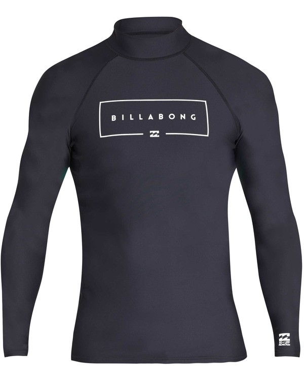 0 Union Wave Performance Fit Long Sleeve Rashguard Black MR62TBUN Billabong