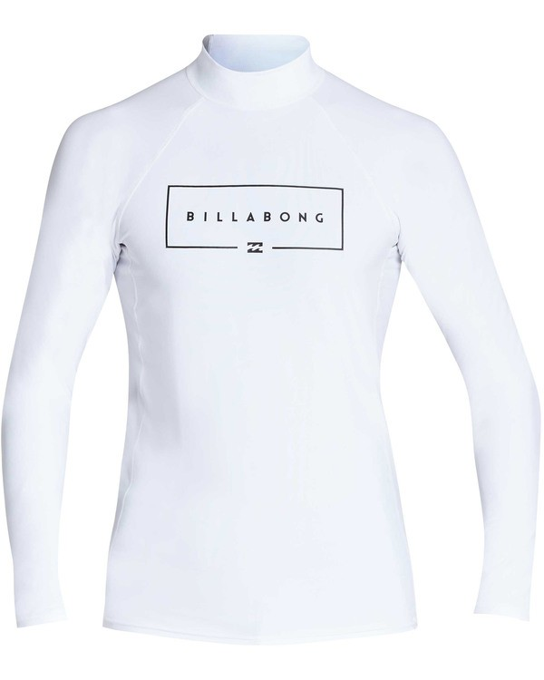 0 Union Wave Performance Fit Long Sleeve Rashguard White MR62TBUN Billabong