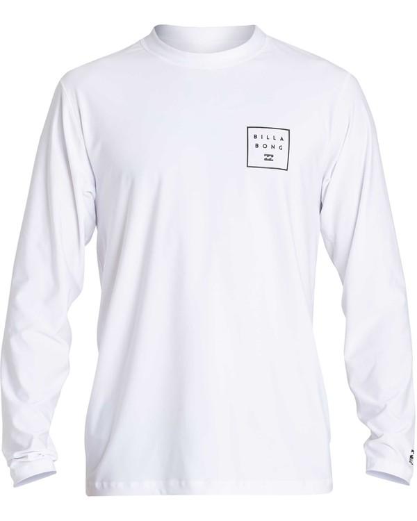0 Stacked Loose Fit Long Sleeve Rashguard White MR63NBST Billabong