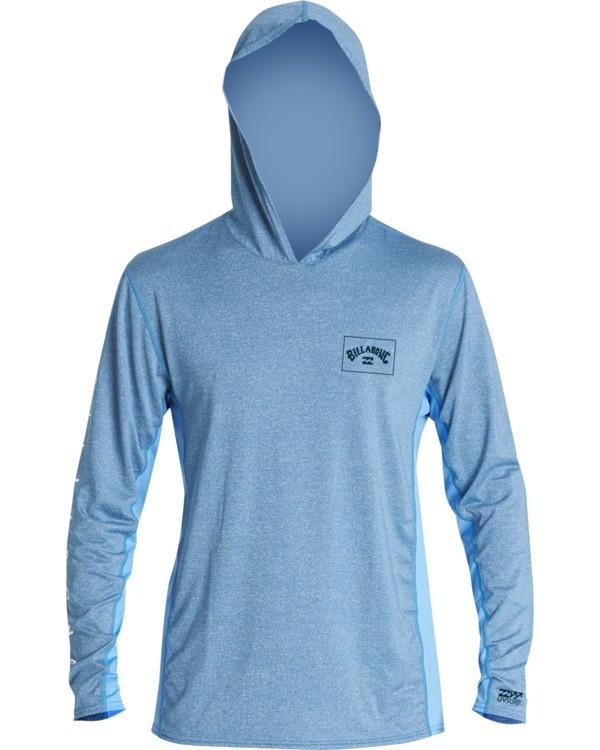 0 Arch Mesh Hooded Loose Fit Long Sleeve Surf Shirt Blue MR691BAR Billabong