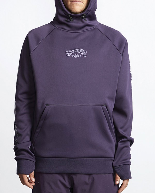 0 Arch Quarter Zip  Polar Fleece Purple MSN6VBAQ Billabong