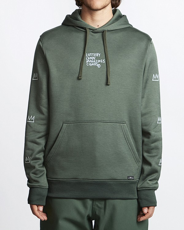 0 Basquiat Thermal Fleece Hoodie Green MSN6VBBH Billabong