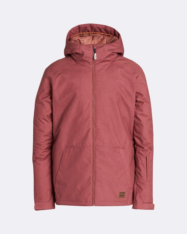 0 Men's All Day Solid Outerwear Jacket Brown MSNJQADI Billabong