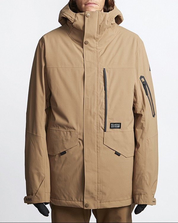 0 Delta Snow Jacket Brown MSNJVBDS Billabong