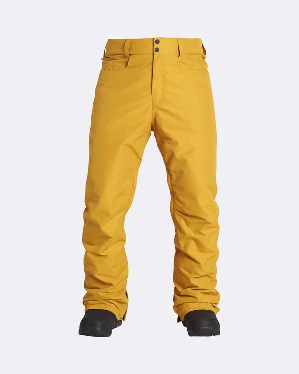 0 Men's Outsider Outerwear Snow Pants Beige MSNPQOUT Billabong