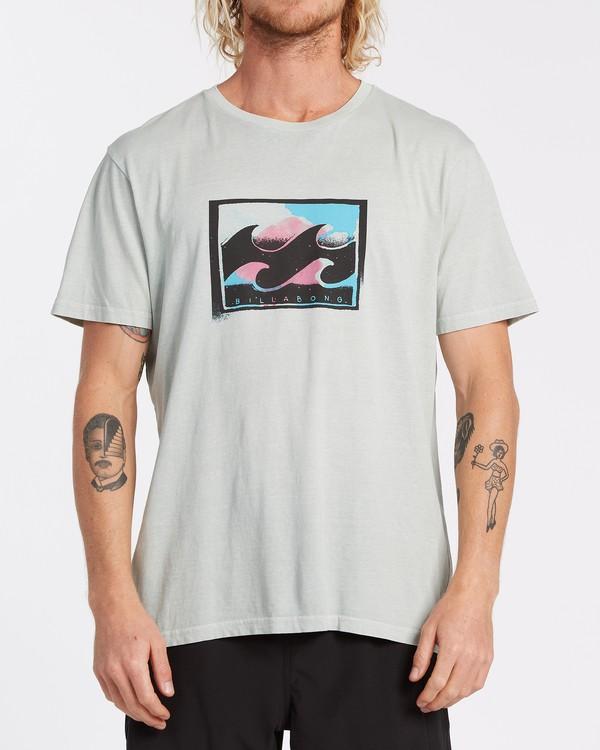 0 Spray Short Sleeve T-Shirt Grey MT132BSP Billabong